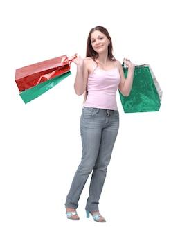 Ragazza sexy dello shopping