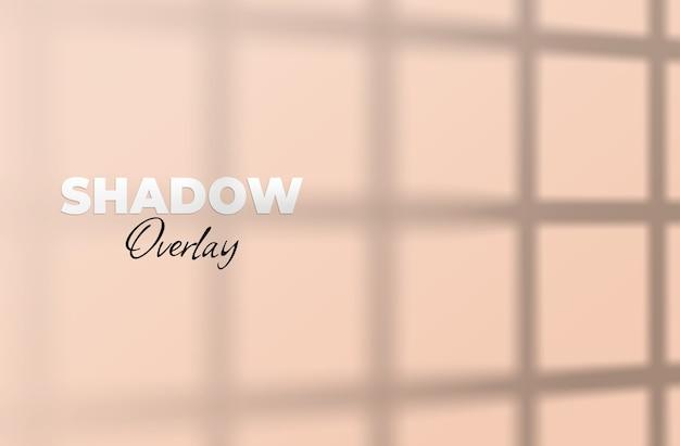Shadow overlay mockup finestra ombra
