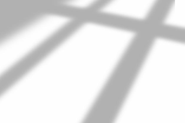 Ombra della finestra sovrapposta su sfondo bianco trama. utilizzare per la presentazione di prodotti decorativi.