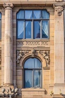 Shanghai bund porte e finestre di edifici in stile europeo