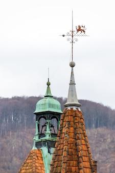Tetti taglienti del castello di shenborn in ucraina