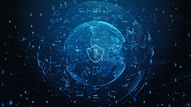 Icona scudo di dati digitali di sicurezza informatica