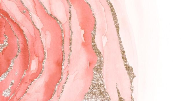 Sfondo rosa scintillante di pennellate ad acquerello