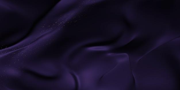 Illustrazione 3d del fondo di struttura di lusso delle bande di galleggiamento del tessuto lucido