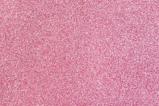 Sfondo di schiuma rosa lucido con glitter