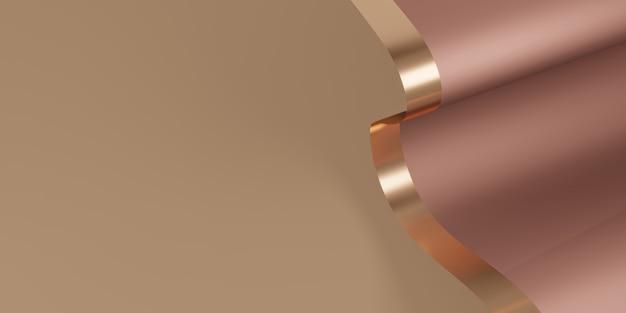 Sfondo di nastro lucido flutter per l'illustrazione 3d della decorazione