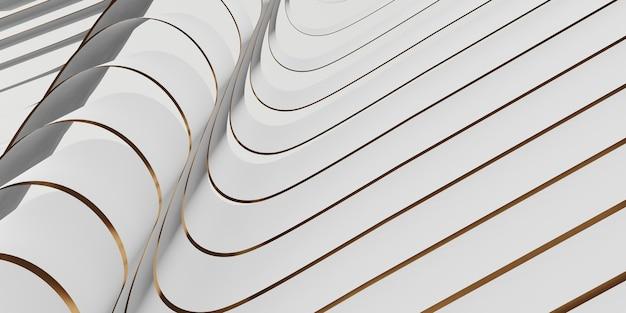 Superficie lucida del nastro sfondo svolazzante per l'illustrazione 3d della decorazione