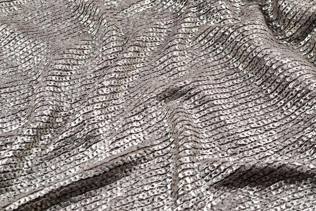 Trama del tessuto argento lucido.