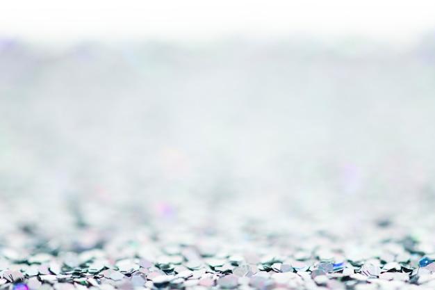 Sfondo con texture glitter argento lucido