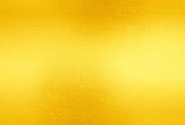 Fondo giallo brillante di struttura della stagnola di oro della foglia