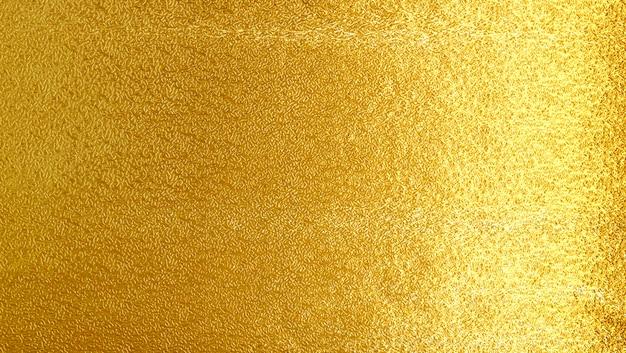 Fondo giallo brillante di struttura del metall dell'oro della foglia