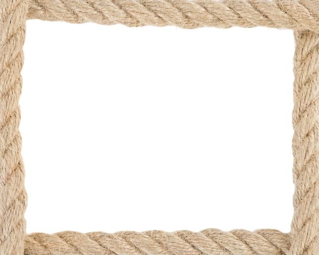 Corde della nave isolate su priorità bassa bianca