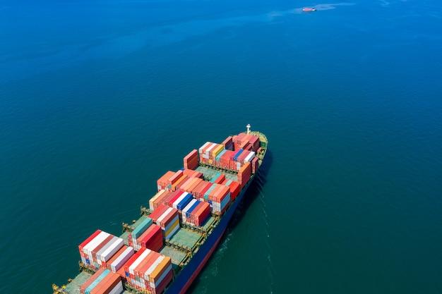 Vista aerea internazionale di servizi commerciali del trasporto del container del carico