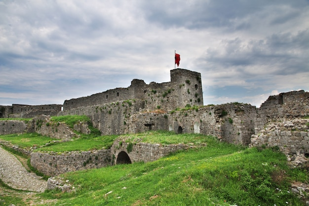 Castello di shkodra in albania, balcani