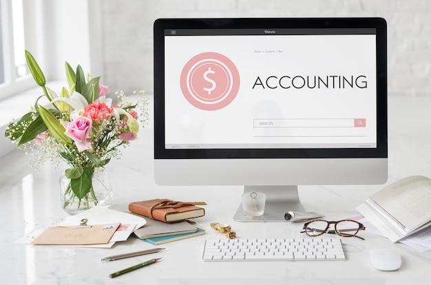 Shopping banking accounting pagina web ricerca di testo concept