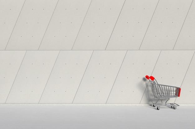 Carrello carrello davanti al primo piano estremo del muro di cemento dei pannelli esterni dell'edificio industriale. rendering 3d