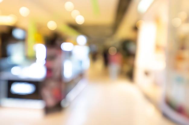 Centro commerciale astratto sfocato sfondo sfocato. concetto di affari.