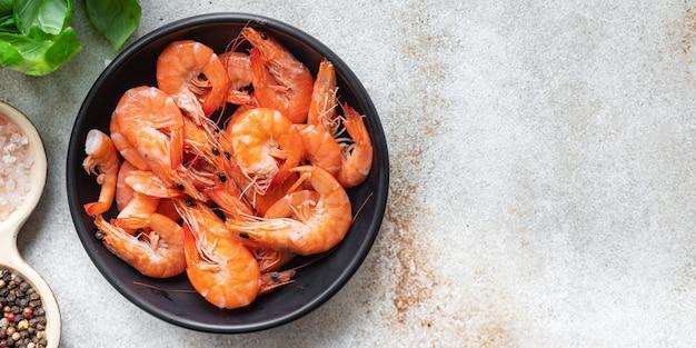 Gamberetti gamberi piccanti frutti di mare pasto cibo vegetariano