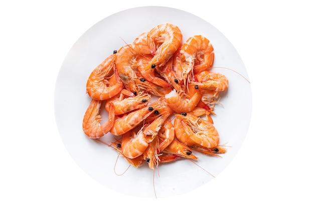 Gamberetti gamberi piccanti frutti di mare pasto cibo vegetariano Foto Premium