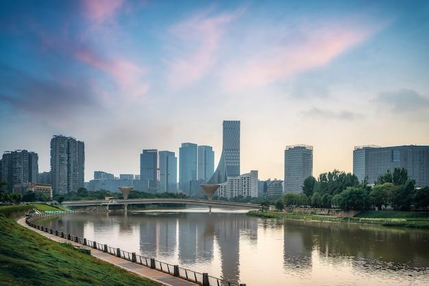 Orizzonte architettonico del paesaggio del parco industriale di sichuan chengdu