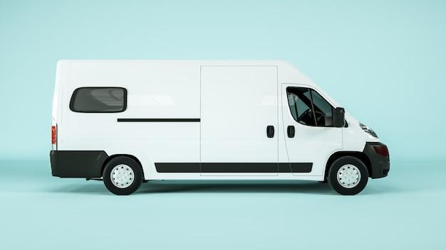 Vista laterale del vagone merci per un mockup di visualizzazione. rendering