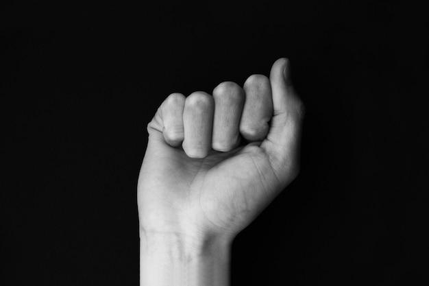 Linguaggio dei segni alfabeto lettera a