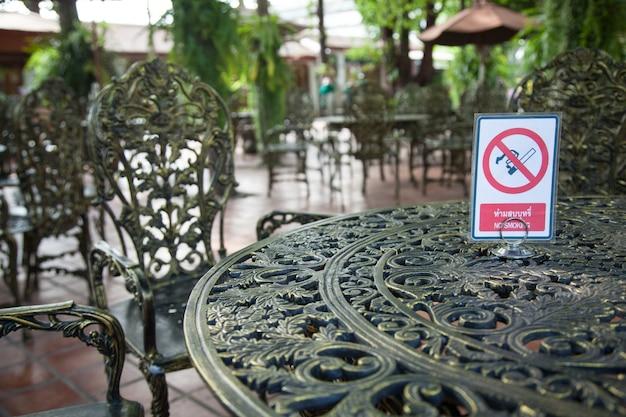 Non segnalare area fumatori.