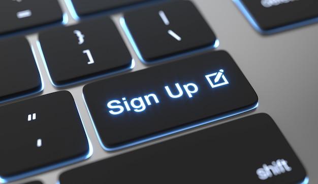 Iscriviti al testo scritto sul pulsante della tastiera.