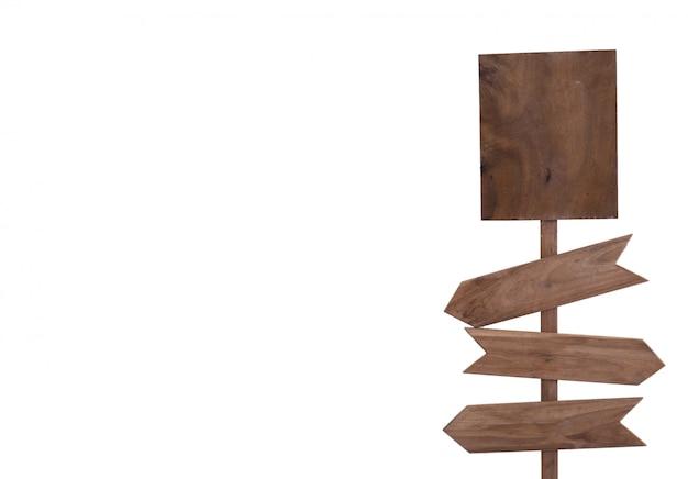 Iscriviti in legno isolato