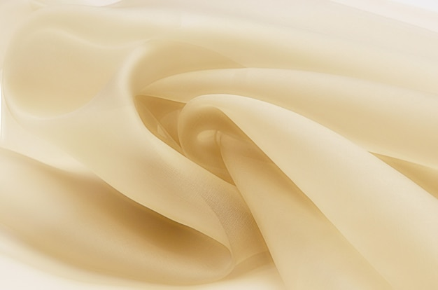 Tessuto di seta, organza beige.