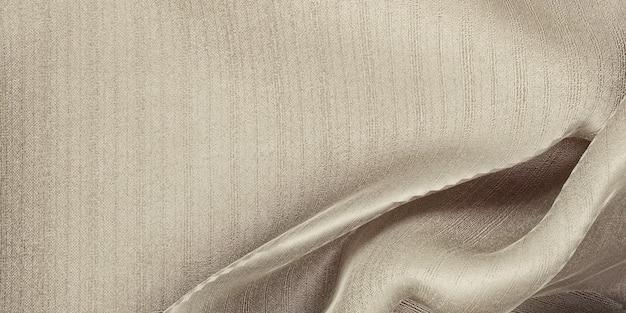 Tessuto in organza di seta trama onda tenda tessuto beige chiaro 3d illustrazione