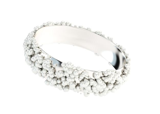 Bracciale in argento, perline, gioielli.