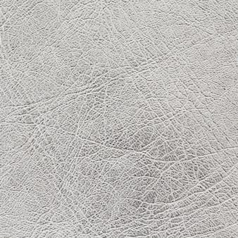 Sfondo texture pelle argento in rapporto quadrato