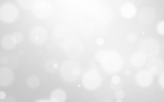 Luce d'argento e fondo di natale bianco con bella struttura del bokeh della sfuocatura. bagliore scintillante