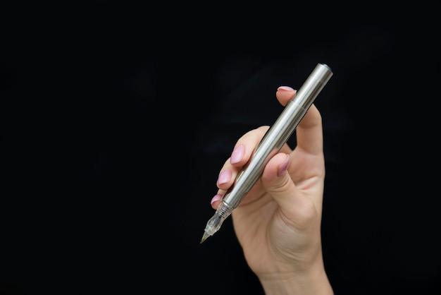 Penna microblading argento per sopracciglia