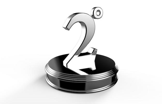 Numero d'argento 2 sul podio