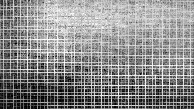 Struttura quadrata del reticolo delle mattonelle d'argento Foto Premium