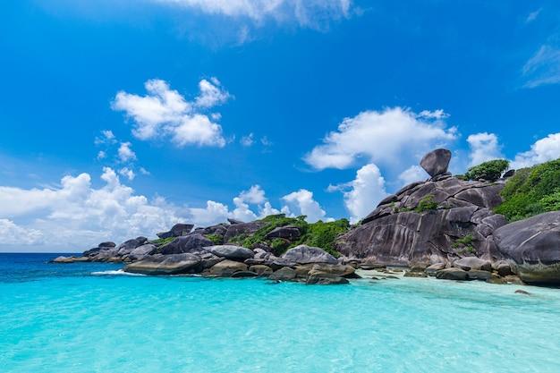 Isole similan mare delle andamane, phang nga, phuket, thailandia