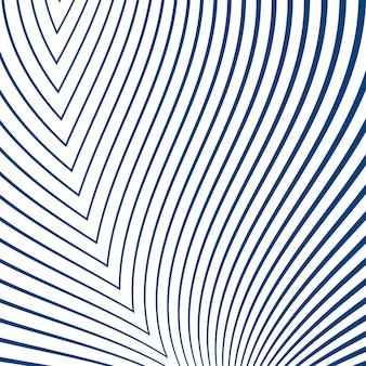 Semplici strisce curve in blu su sfondo bianco
