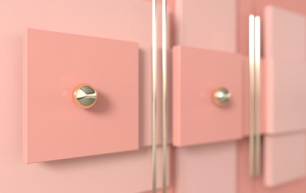 Forme geometriche semplici, 3d rendono il fondo astratto di affari. colori pastello