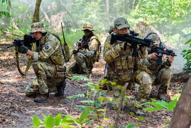 Simulazione del piano di battaglia a bangkok, in thailandia