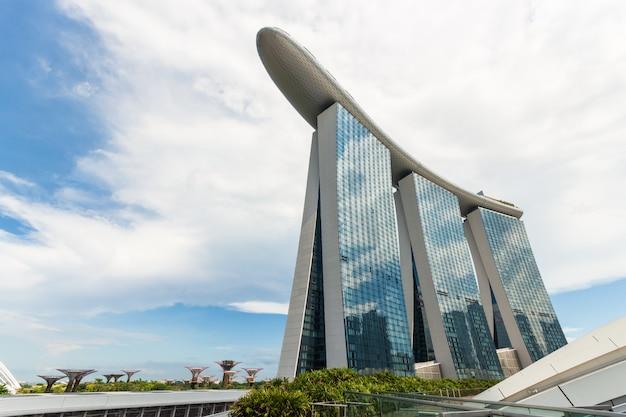 Paesaggio urbano di singapore durante il giorno