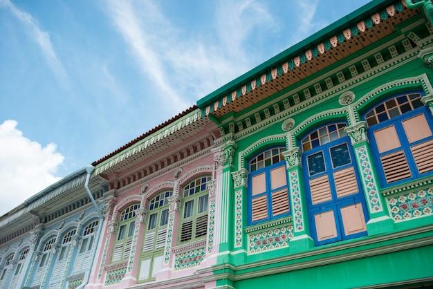 Singapore, marzo 26,2017: casa variopinta di eredità di peranakan, strada del chiat di joo, singapore
