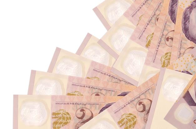Le banconote in dollari di singapore si trovano in ordine diverso