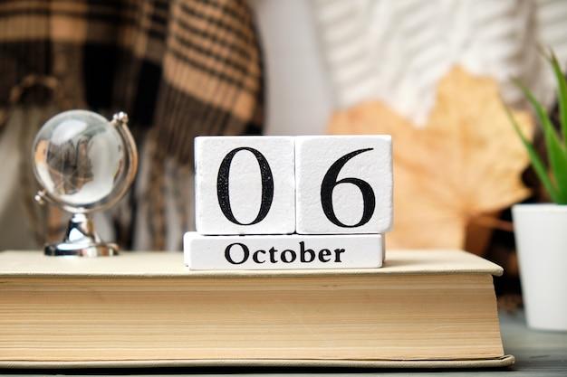 Sesto giorno del mese di autunno del calendario ottobre