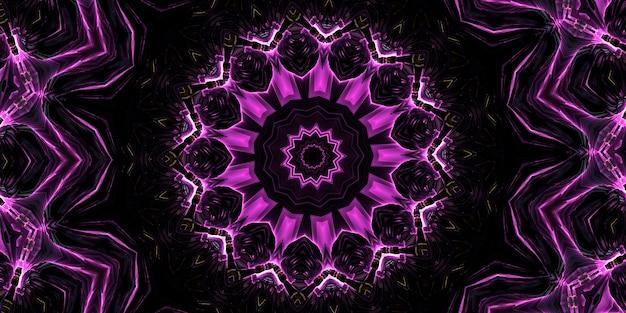 Sesto senso. caleidoscopio medio psichico. sfondo astratto con forme caleidoscopiche, trance e concetto di meditazione. vernici acriliche brillanti che formano un motivo a mandala rotondo con una varietà di forme