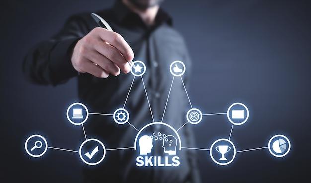 Competenze. sviluppo. internet. tecnologia. attività commerciale