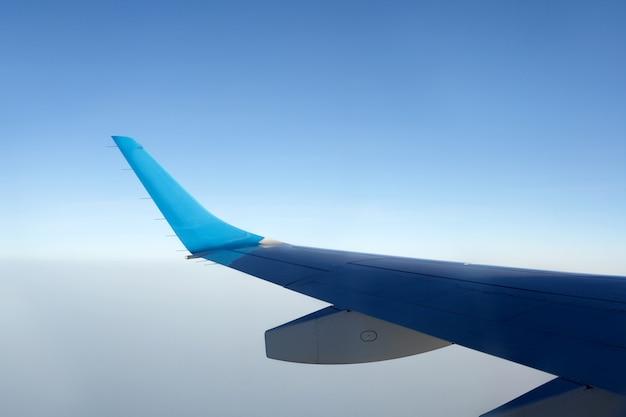 Livello dell'orizzonte dell'orizzonte della nave di volo della macchina del chip degli aerei del sole blu di alba degli aerei dell'ala del cielo