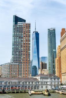 Skyline di manhattan a new york city