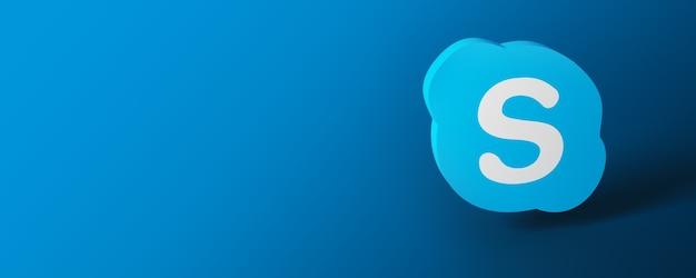 Banner con logo skype logo